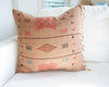 Naga Tribal Accent Pillow - Peach, Burgundy - 22x22 #1