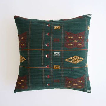 Naga Tribal Accent Pillow - Green - 22x22