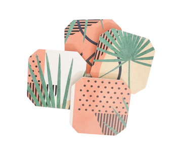 Nature Geometry Coaster Set