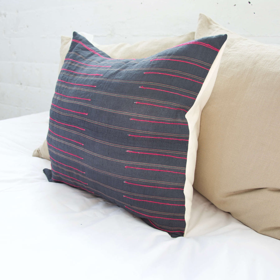 Navy Hmong Accent Pillow #2 - 20x20