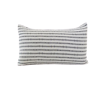 Navy & Gray Striped 'H' Lumbar Pillow - 14x22