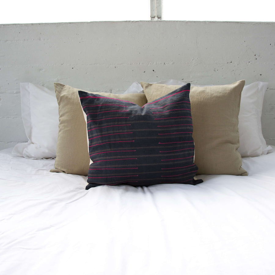 Navy Hmong Accent Pillow #1 - 20x20