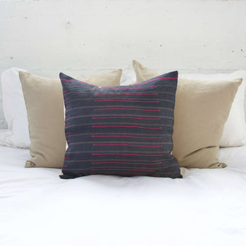 Navy Hmong Accent Pillow #3 - 20x20