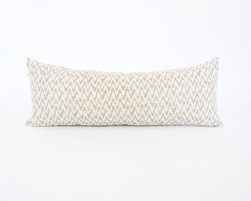 Neutral Zig Zag Extra Long Lumbar Pillow - 14x36