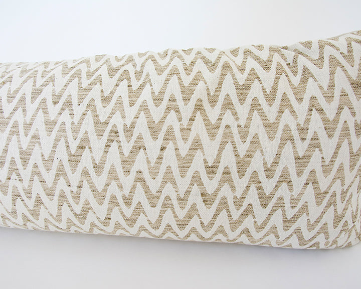 Neutral Zig Zag Extra Long Lumbar Pillow - 14x50