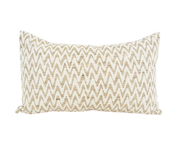 Neutral Zig Zag Lumbar Pillow - 14x22