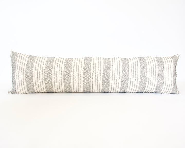 Off-White Stripe Extra Long Lumbar Pillow - 14x50