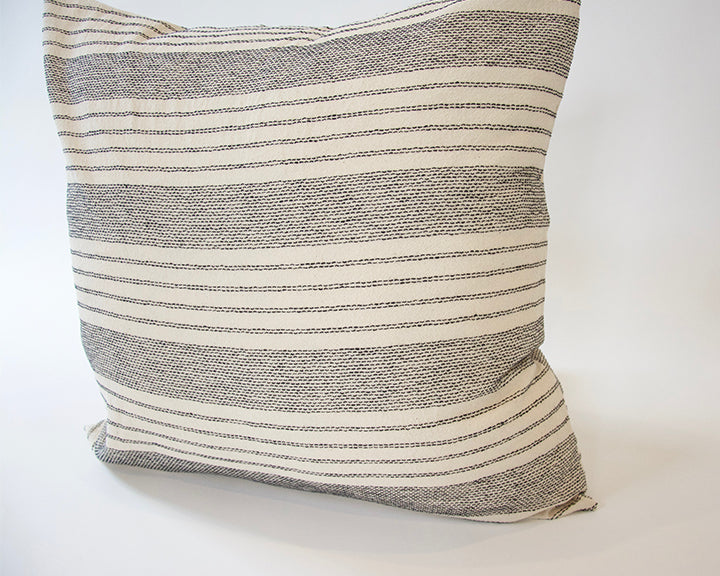 Off-White Stripe Accent Pillow - 22x22
