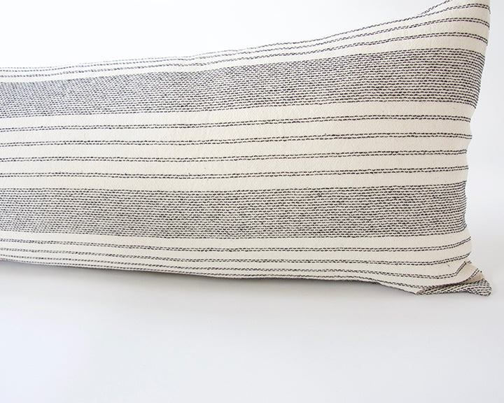 Off-White Stripe Extra Long Lumbar Pillow - 14x36