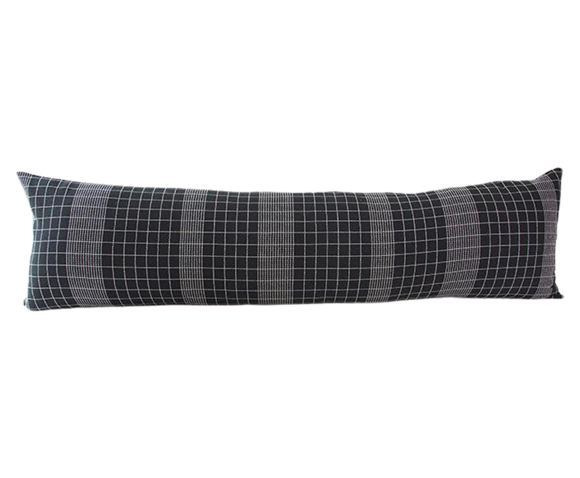 Off The Grid Extra Long Lumbar Pillow - Black - 14x50