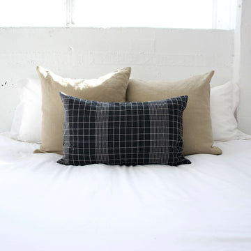 Off The Grid Lumbar Pillow - Black - 14x22