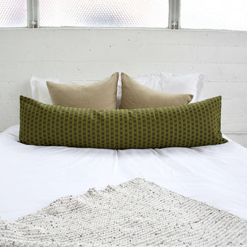 Olive Green Extra Long Lumbar Pillow - 14x50