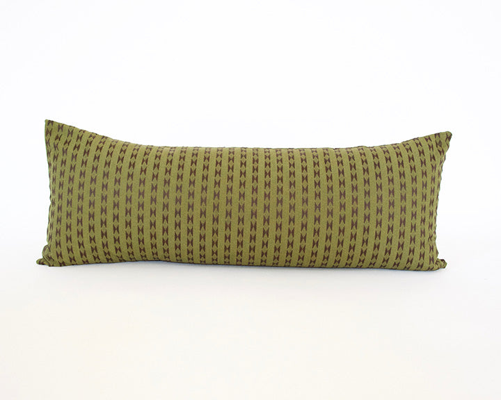 Olive Green Extra Long Lumbar Pillow - 14x36
