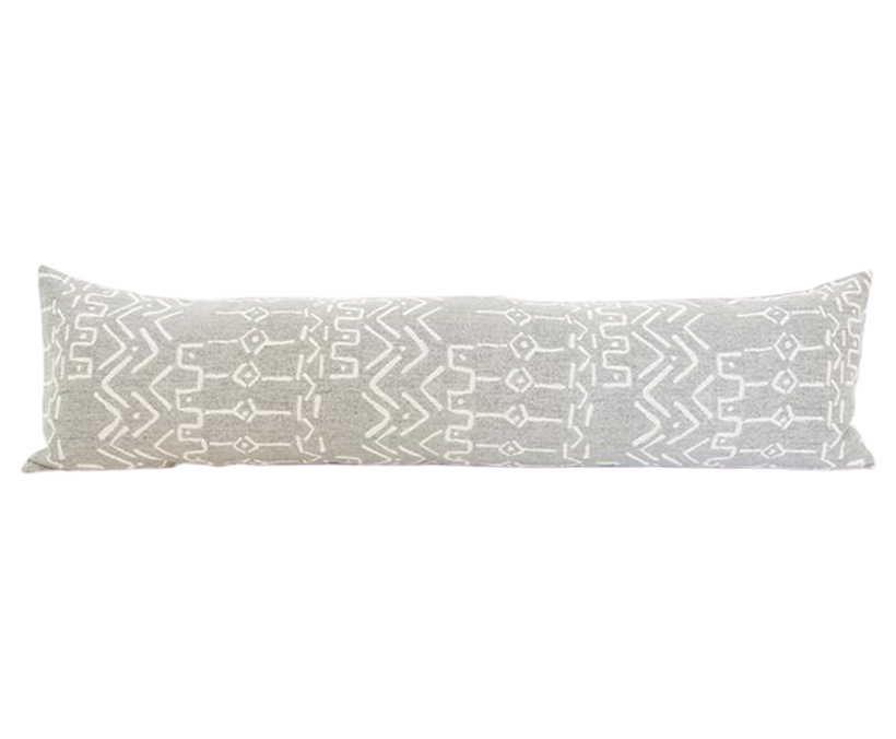 Pale Gray Extra Long Lumbar Pillow - 14x50