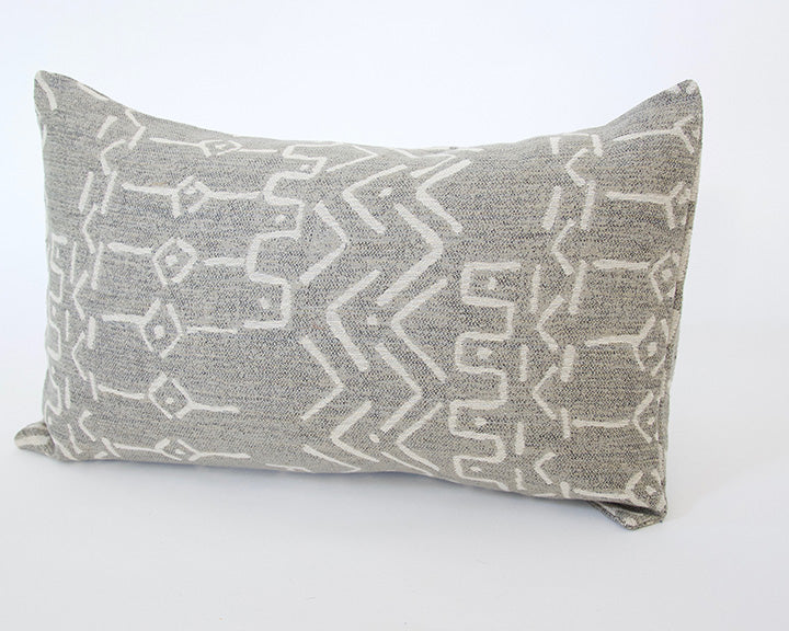 Pale Gray Lumbar Pillow - 14x22