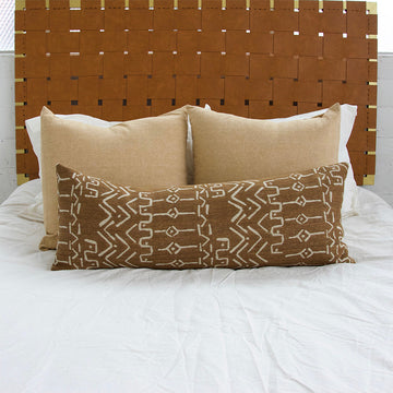Mud Cloth Pattern Extra Long Lumbar Pillow