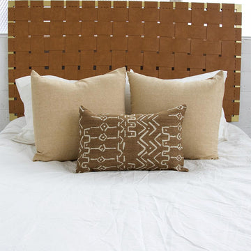 Cognac Mud Cloth Pattern Lumbar - 14x22