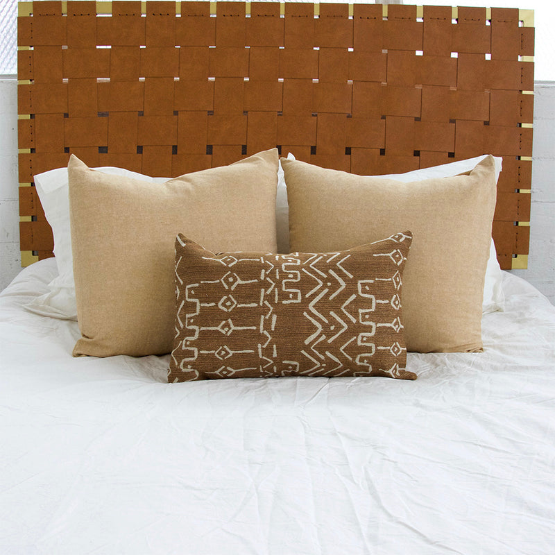 Mud Cloth Pattern Lumbar Pillow