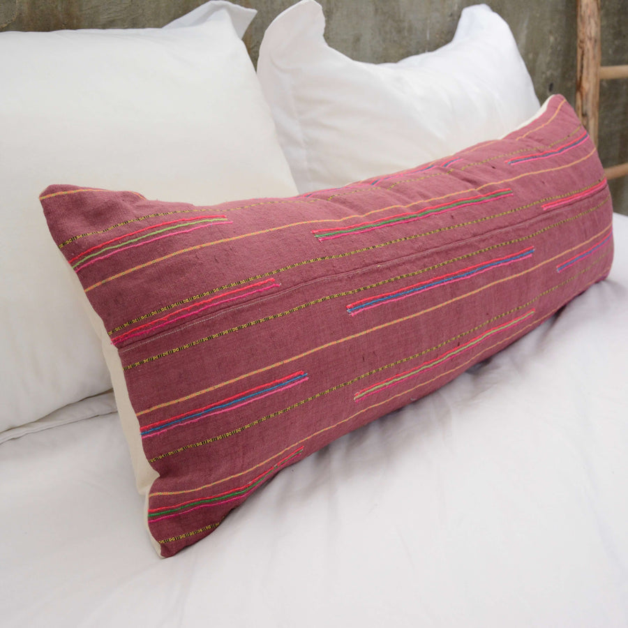 Extra Long Lumbar Pillow Pink