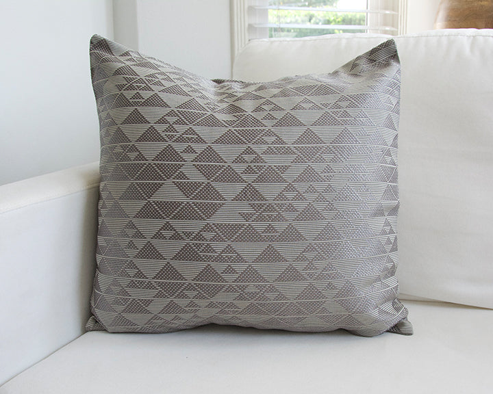Platinum Sheen Geometric Accent Pillow - 20x20