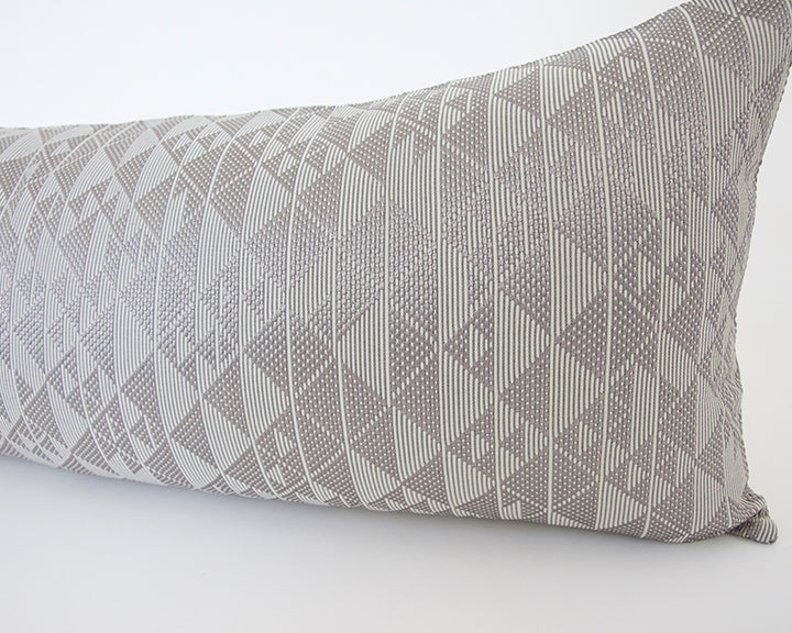 Platinum Sheen Geometric Extra Long Lumbar Pillow - 14x36