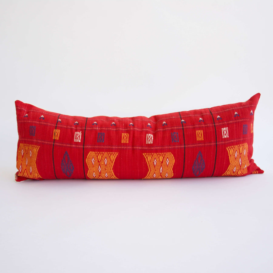 Extra Long Lumbar Pillow Red