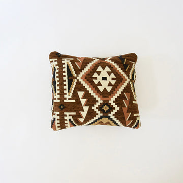 Brown and Black Retro Accent Pillow - 16x16