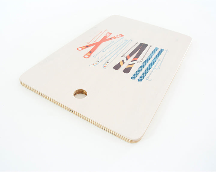 Retro Ski Cutting Board