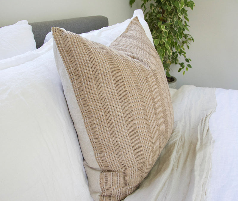 Sandy Brown Dashed Accent Pillow - 20x20