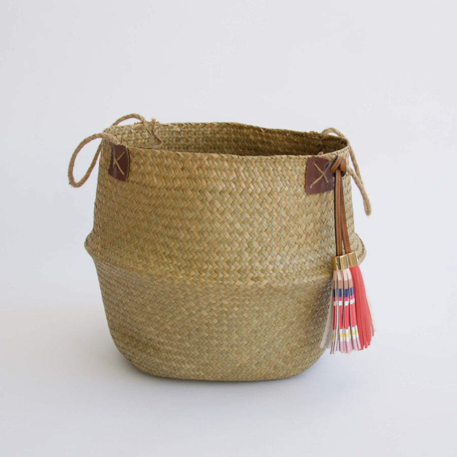 Sea Grass Basket with Tassel