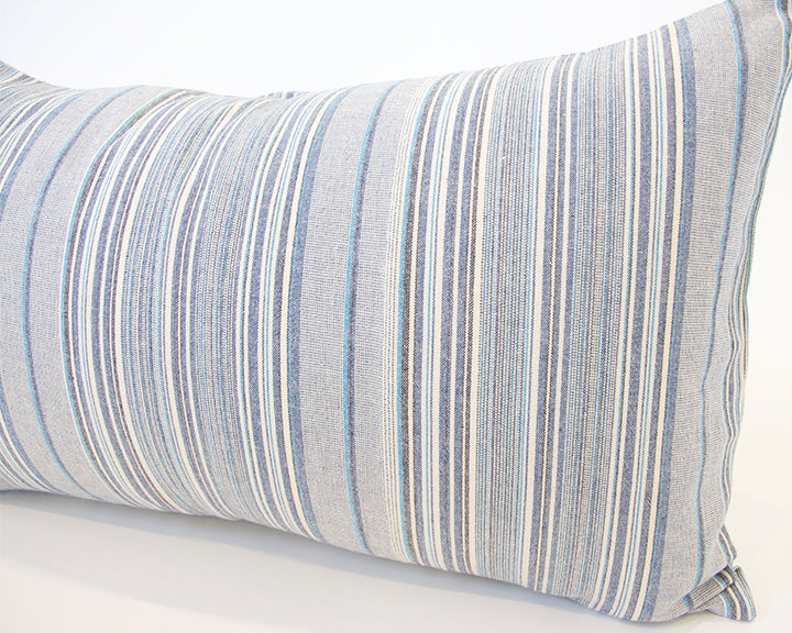 Soft Blues Lumbar Pillow - 14x22