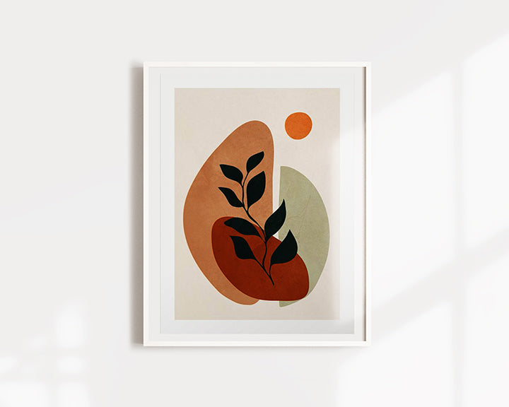 Soft Shapes II Plant Art Print