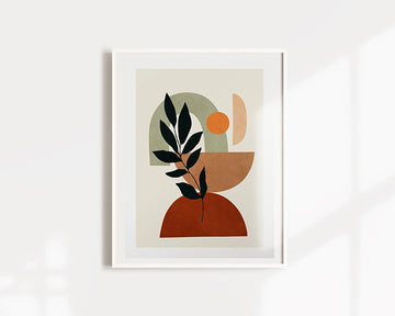 Soft Shapes IV Plant Art Print