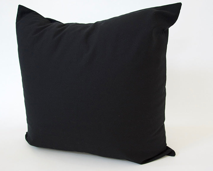 Solid Black Cotton Accent Pillow - 24x24
