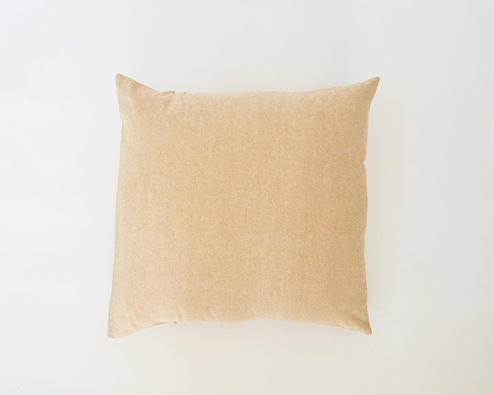 Solid Tan Linen Accent Pillow - 22x22