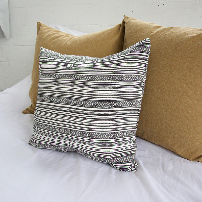 Striped Aztec Accent Pillow - Grey - 22x22