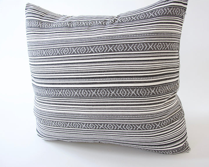 Striped Aztec Accent Pillow - Grey - 20x20