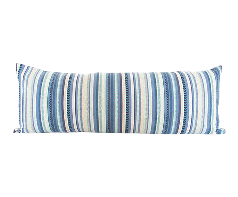Summer Beach Party Striped Extra Long Lumbar Pillow - 14x36