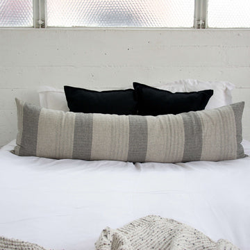 Three Shades of Grey Extra Long Lumbar Pillow - 14x50