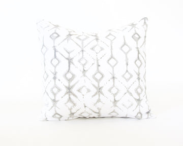 Tribal Ecru Accent Pillow - 22x22