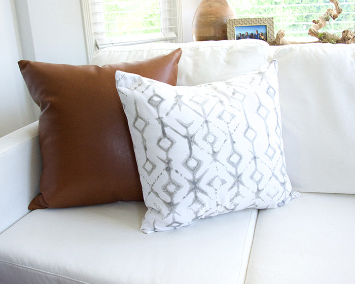 Tribal Ecru Accent Pillow - 20x20