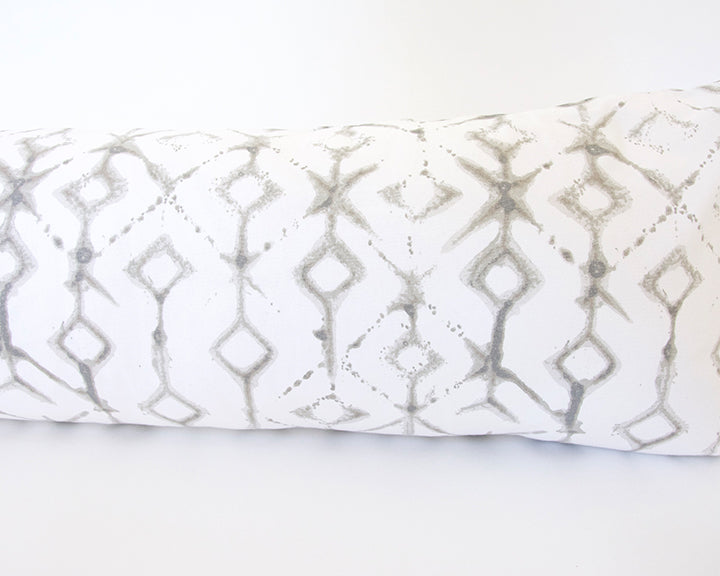 Tribal Ecru Extra Long Lumbar Pillow - 14x36