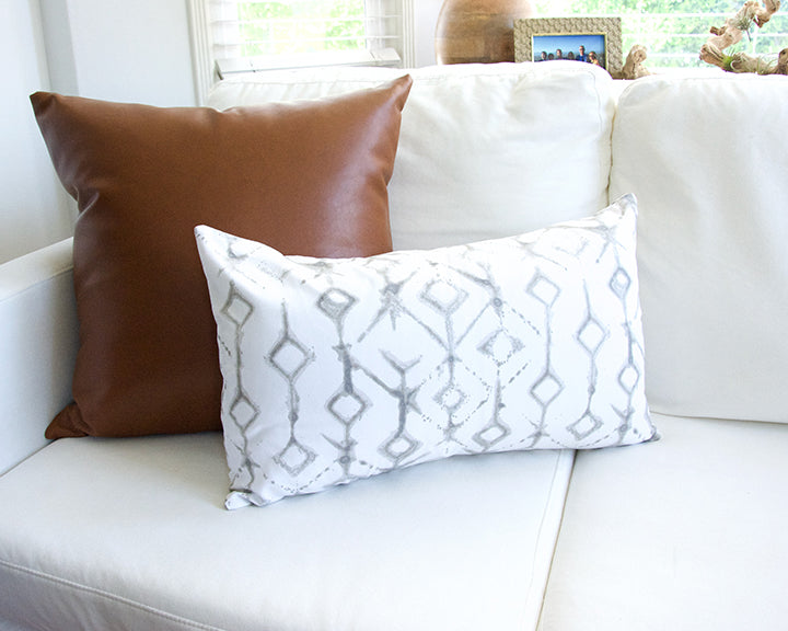 Tribal Ecru Lumbar Pillow - 14x22