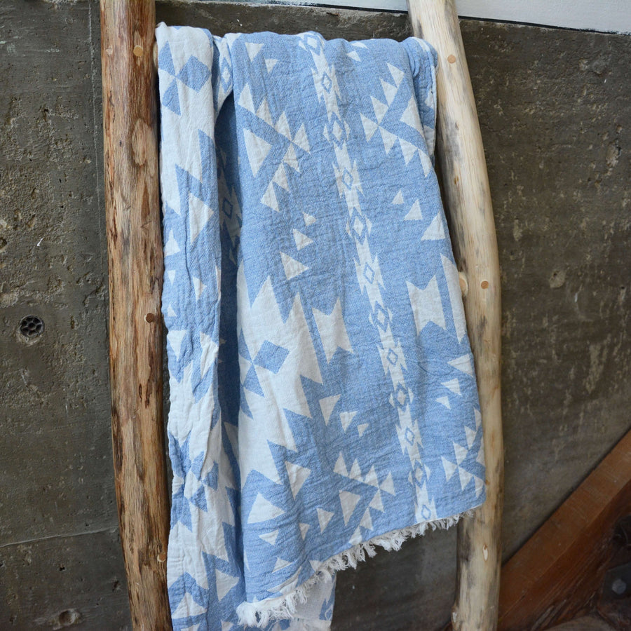 Turkish Towel / Throw - Royal Blue