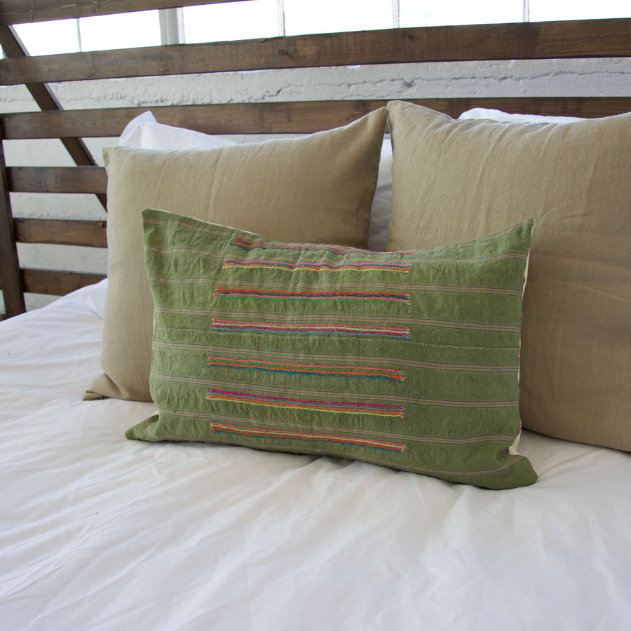 green-hmong-pillow