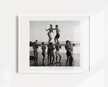 Vintage Beach Party 1 Art Print