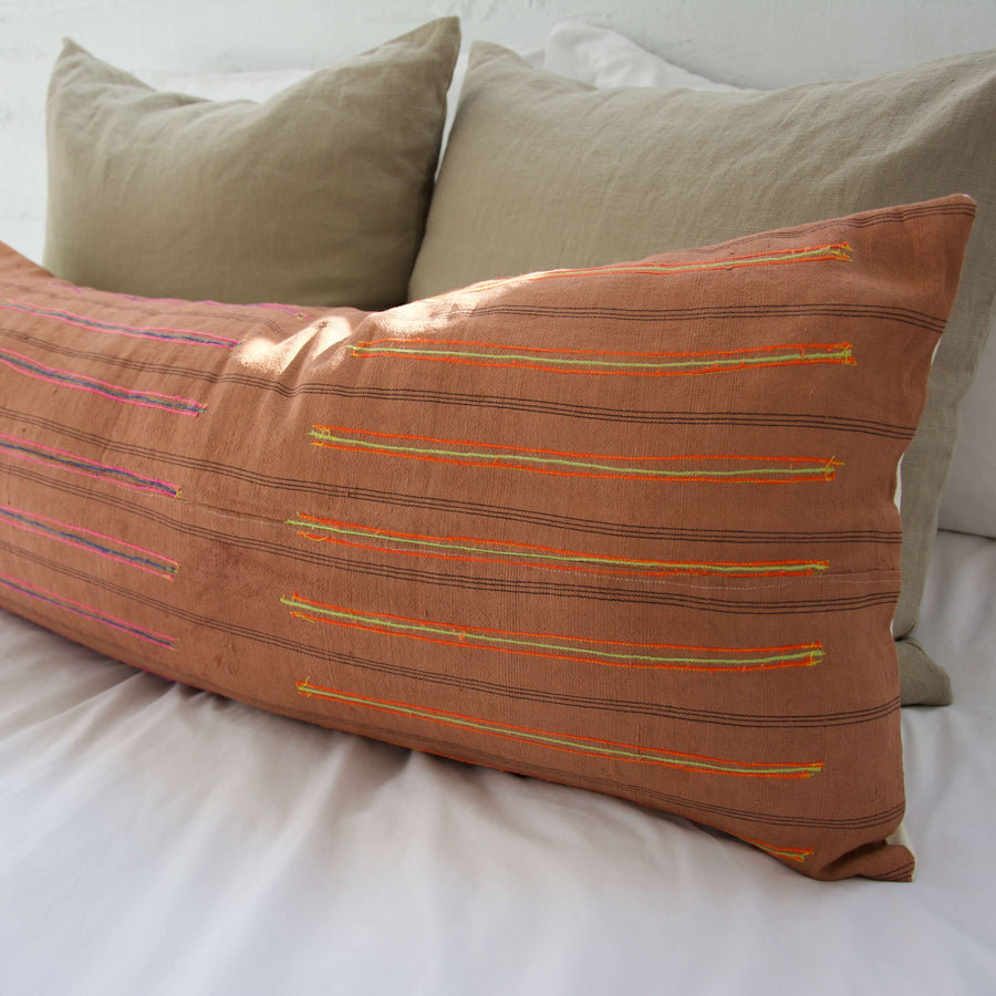 Vintage-Hmong_Salmon-Extra-Long-Lumbar-Pillow