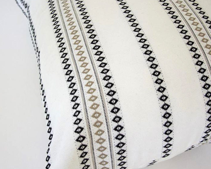 White Diamond Striped Accent Pillow - 22x22