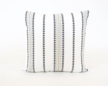 White Diamond Striped Accent Pillow - 20x20