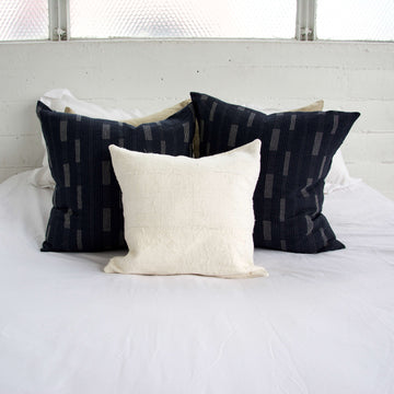 White Mud Cloth Pillow - 16x16